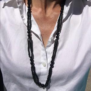 """3ca318658da Jewelry - Gorgeous 32"""" Onyx bead necklace"""